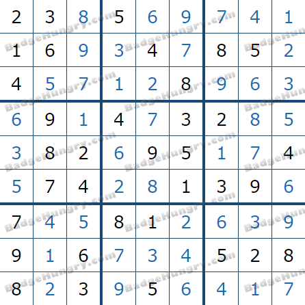 Pogo Daily Sudoku Solutions: March 2, 2021