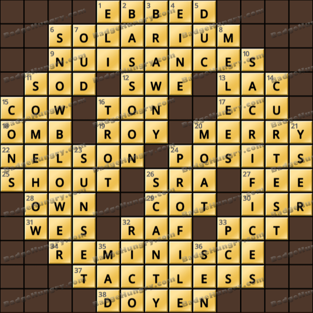 Crossword Cove HD Solution: March 2, 2021