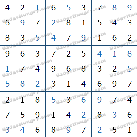 Pogo Daily Sudoku Solutions: March 3, 2021