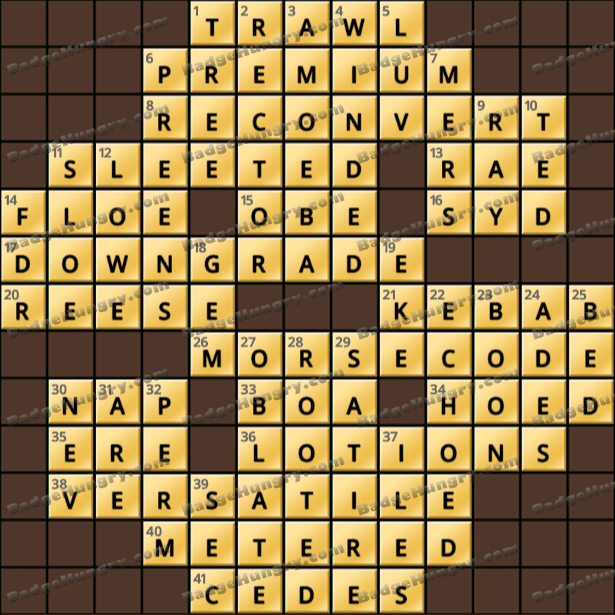 Crossword Cove HD Solution: March 4, 2021