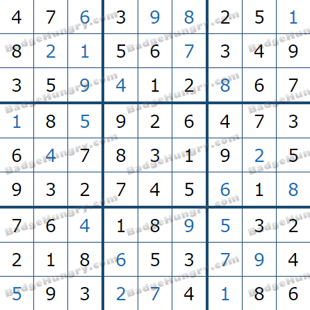 Pogo Daily Sudoku Solutions: March 5, 2021