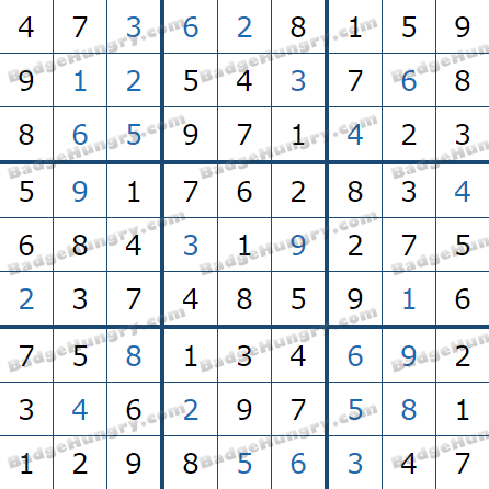 Pogo Daily Sudoku Solutions: March 6, 2021