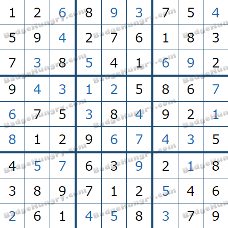 Pogo Daily Sudoku Solutions: March 8, 2021