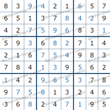 Pogo Daily Sudoku Solutions: March 10, 2021