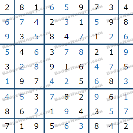 Pogo Daily Sudoku Solutions: March 14, 2021