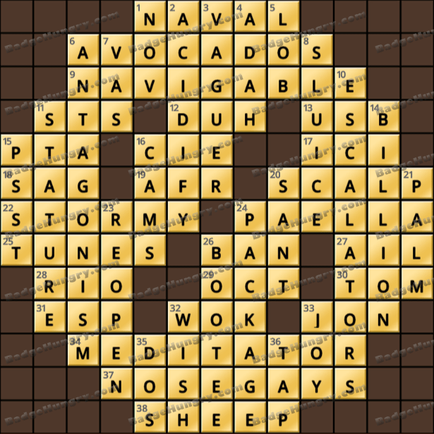 Crossword Cove HD Solution: March 16, 2021