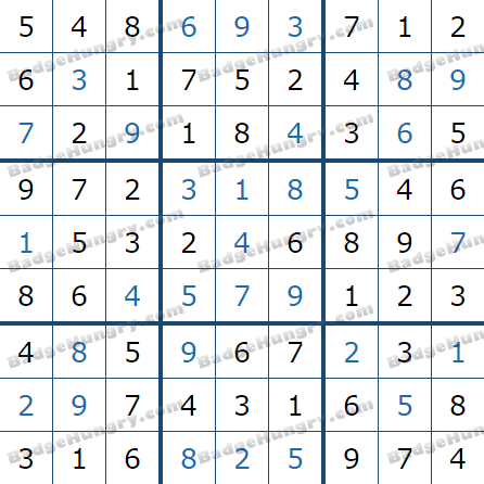Pogo Daily Sudoku Solutions: March 20, 2021