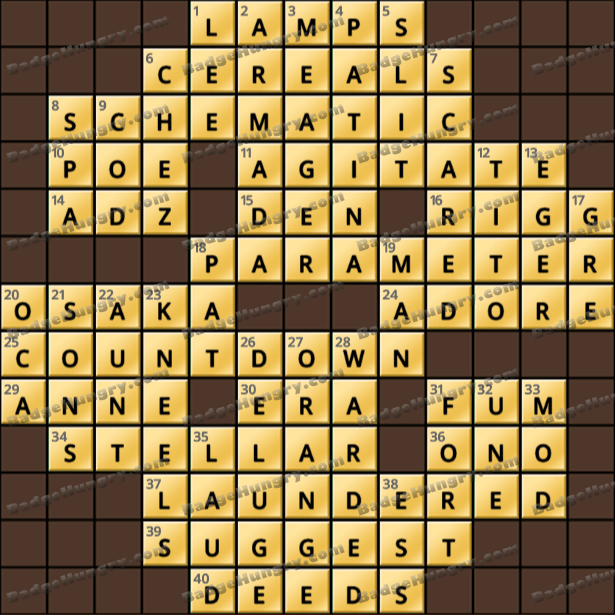 Crossword Cove HD Solution: March 22, 2021