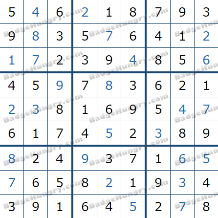 Pogo Daily Sudoku Solutions: March 24, 2021