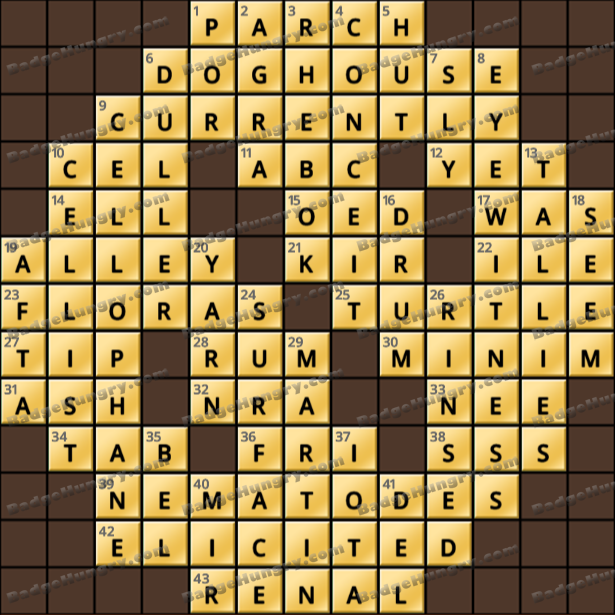 Crossword Cove HD Solution: March 24, 2021