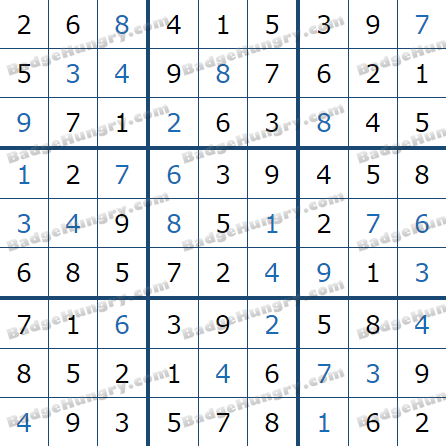 Pogo Daily Sudoku Solutions: March 25, 2021