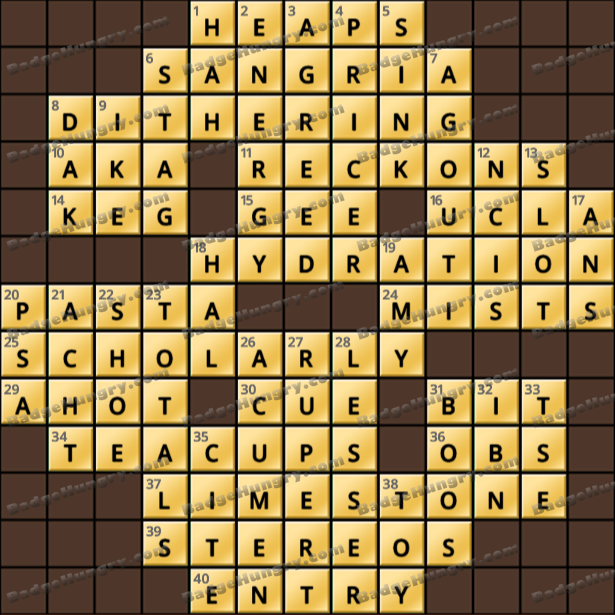 Crossword Cove HD Solution: March 26, 2021