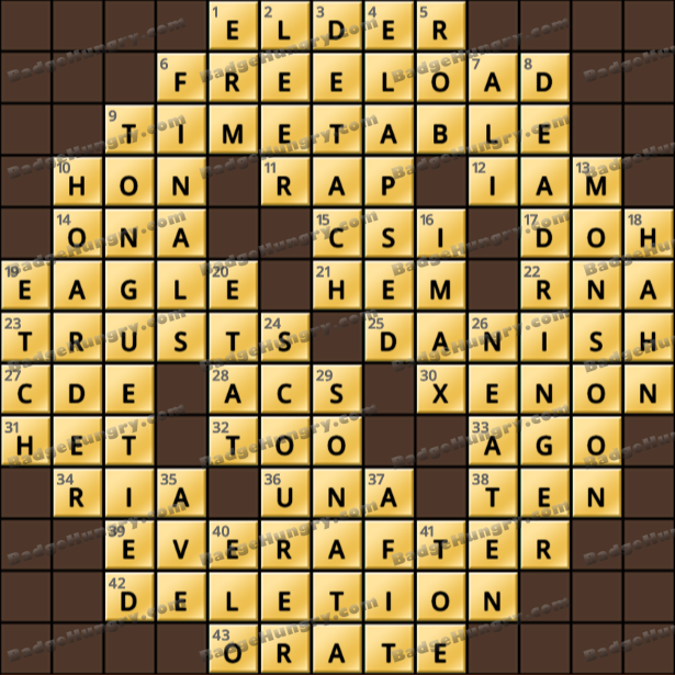 Crossword Cove HD Solution: March 27, 2021