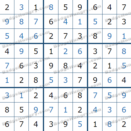 Pogo Daily Sudoku Solutions: March 29, 2021