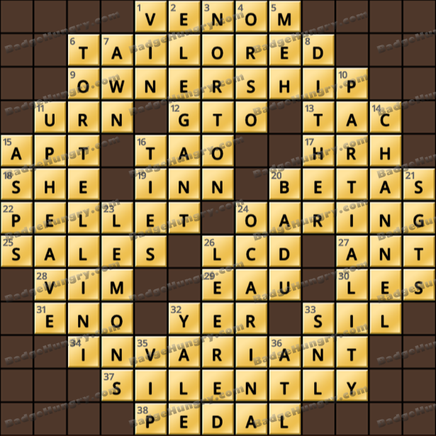 Crossword Cove HD Solution: March 29, 2021