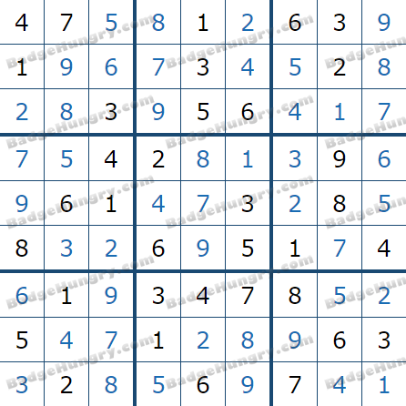 Pogo Daily Sudoku Solutions: March 30, 2021