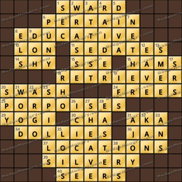 Crossword Cove HD Solution: April 1, 2021
