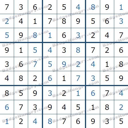 Pogo Daily Sudoku Solutions: April 2, 2021