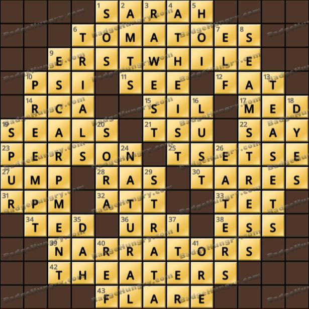 Crossword Cove HD Solution: April 5, 2021