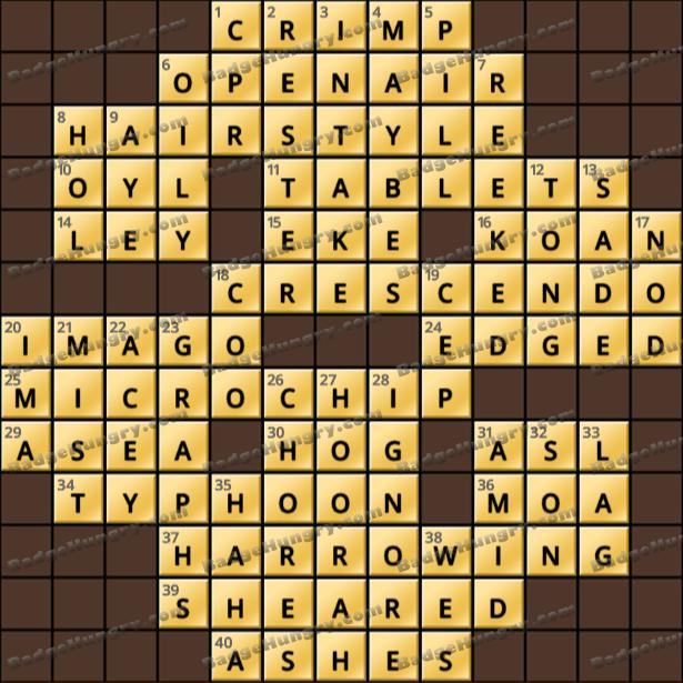 Crossword Cove HD Solution: April 7, 2021