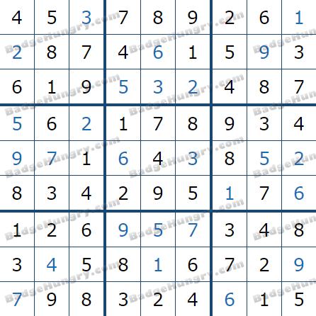 Pogo Daily Sudoku Solutions: April 8, 2021
