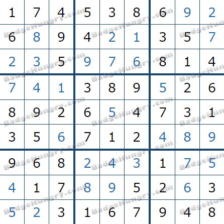 Pogo Daily Sudoku Solutions: April 9, 2021