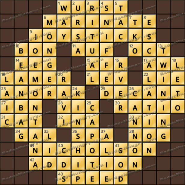 Crossword Cove HD Solution: April 9, 2021