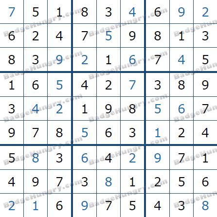 Pogo Daily Sudoku Solutions: April 11, 2021