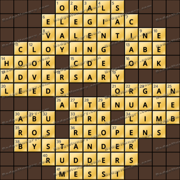 Crossword Cove HD Solution: April 18, 2021