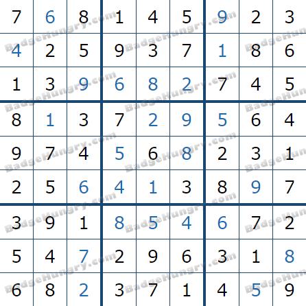 Pogo Daily Sudoku Solutions: April 21, 2021