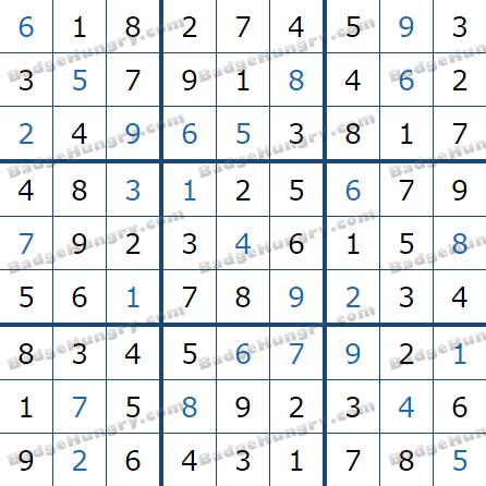 Pogo Daily Sudoku Solutions: April 22, 2021