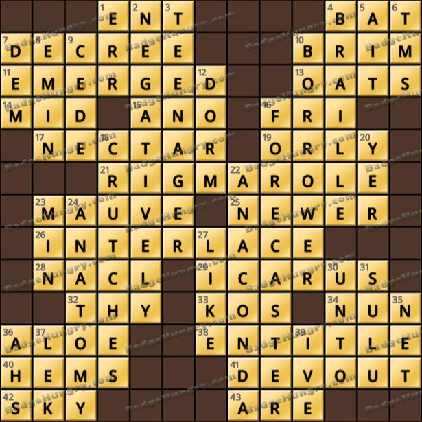 Crossword Cove HD Solution: April 22, 2021