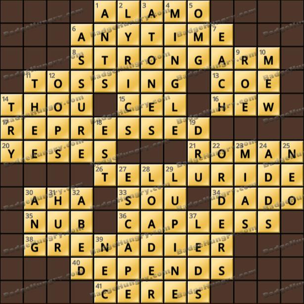 Crossword Cove HD Solution: April 24, 2021