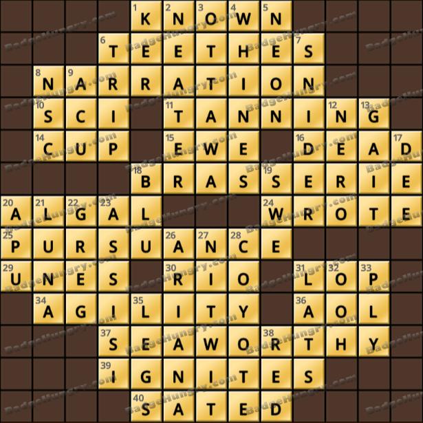 Crossword Cove HD Solution: April 26, 2021