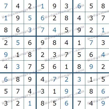 Pogo Daily Sudoku Solutions: April 27, 2021
