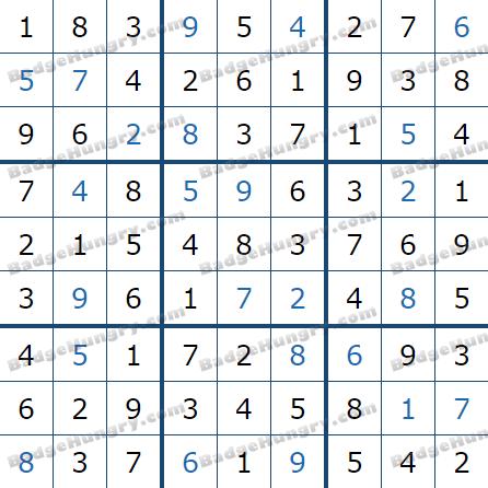 Pogo Daily Sudoku Solutions: April 28, 2021