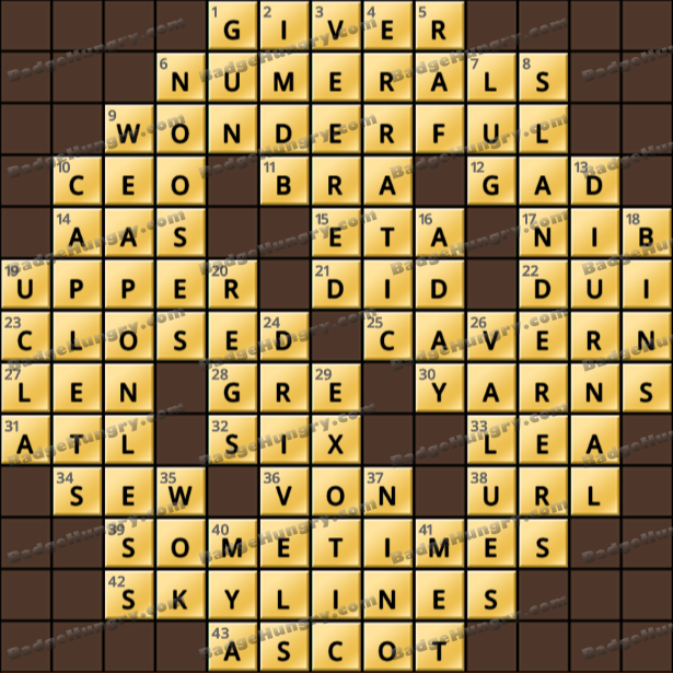 Crossword Cove HD Solution: April 30, 2021