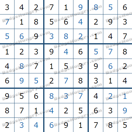 Pogo Daily Sudoku Solutions: May 1, 2021