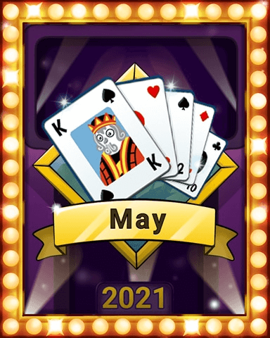 May 2021 Game of the Month Snowbird Solitaire Badge