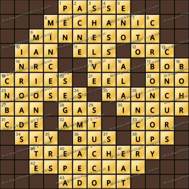 Crossword Cove HD Solution: May 6, 2021