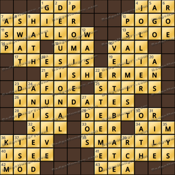 Crossword Cove HD Solution: May 7, 2021
