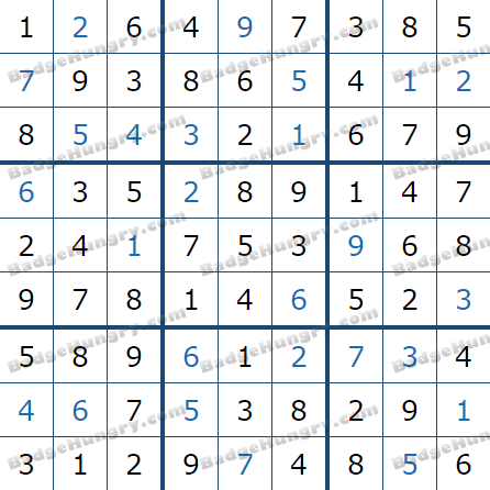 Pogo Daily Sudoku Solutions: May 8, 2021