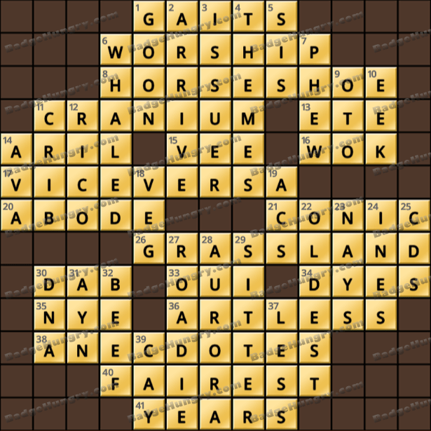 Crossword Cove HD Solution: May 13, 2021
