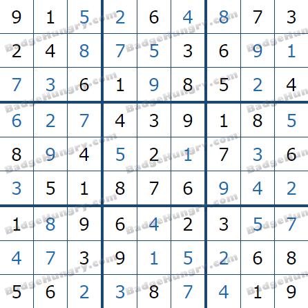 Pogo Daily Sudoku Solutions: May 15, 2021