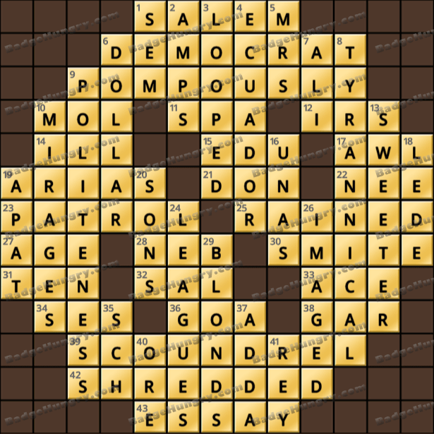 Crossword Cove HD Solution: May 15, 2021