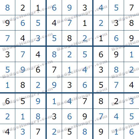 Pogo Daily Sudoku Solutions: May 16, 2021