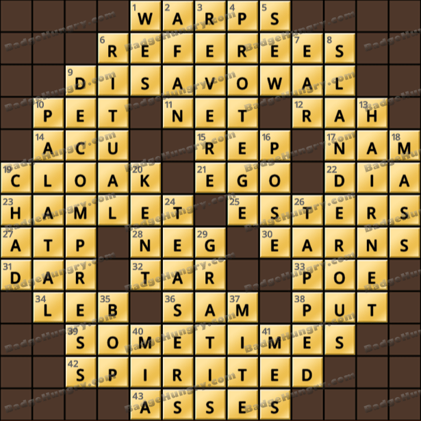 Crossword Cove HD Solution: May 23, 2021