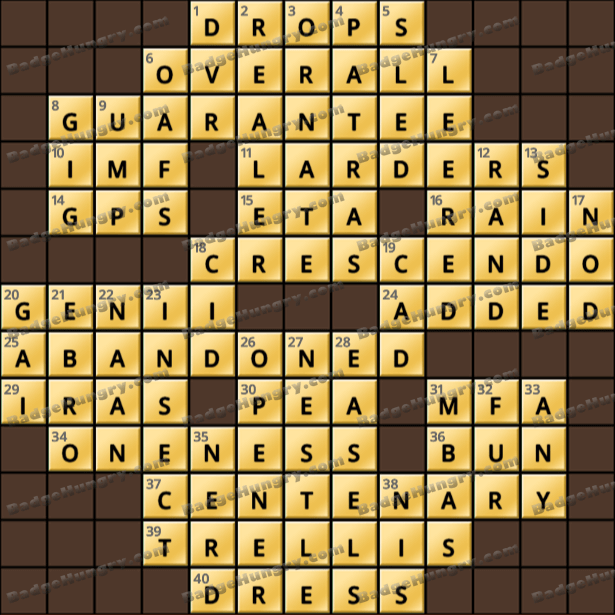 Crossword Cove HD Solution: May 24, 2021
