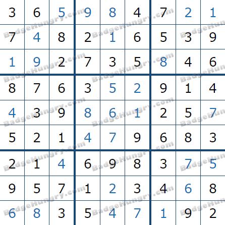 Pogo Daily Sudoku Solutions: May 25, 2021