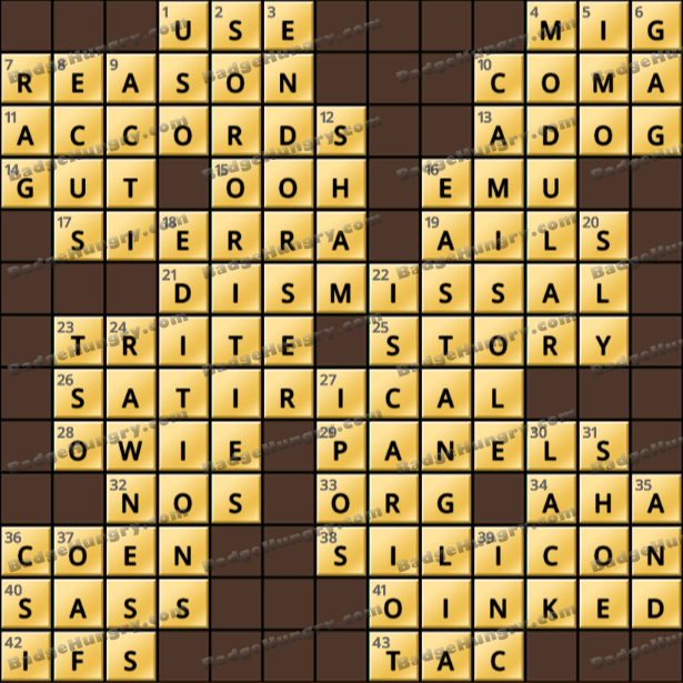 Crossword Cove HD Solution: May 26, 2021
